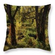 Lush Garden Throw Pillow