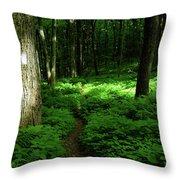 Lush Green At 2 Throw Pillow