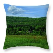 Lush Green Everything On The Ma At Throw Pillow