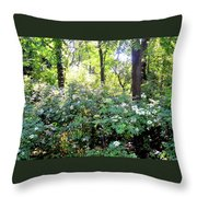 Lush Greens Throw Pillow