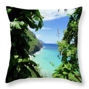 Lush Kauai Throw Pillow