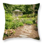 Lush Landscaped Garden Throw Pillow