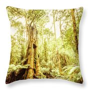 Lush Tasmanian Forestry Throw Pillow