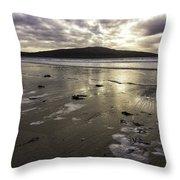 Luskentyre Beach Sunset Throw Pillow