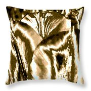 Lustrous Golden Tulip Throw Pillow