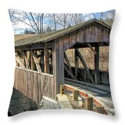 Luther Mills Bridge Throw Pillow
