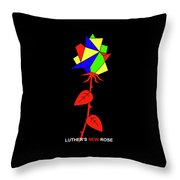 Luthers New Rose Throw Pillow