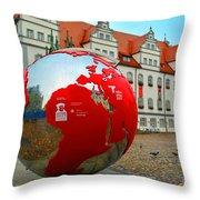 Lutherstadt World Throw Pillow
