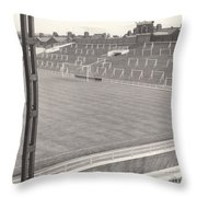 Luton Town - Kenilworth Road - Kenilworth Terrace North Goal 1 - Bw - August 1969 Throw Pillow