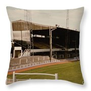 Luton Town - Kenilworth Road - Main Stand East Side 1 - 1970s Throw Pillow