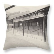 Luton Town - Kenilworth Road - Oak Road Terrace South Goal 1 - Bw - April 1969 Throw Pillow