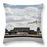 Lux Air London City Airport Throw Pillow