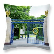 Luxembourg American Cemetery And Memorial Throw Pillow