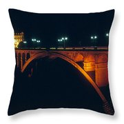 Luxembourg Bridge Throw Pillow