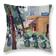 Luxembourg Gardens Throw Pillow