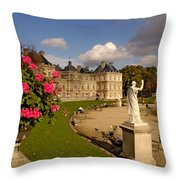 Luxembourg Palace Throw Pillow