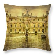 Luxembourg Palace Paris Throw Pillow
