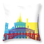 Luxembourg Skyline Pop Throw Pillow
