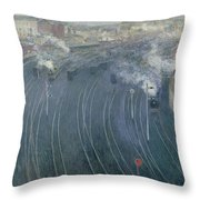 Luxembourg Station Throw Pillow by Henri Ottmann