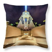 Luxor Casino Egyptian Sphinx Las Vegas Night Throw Pillow