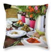 Luxurious Breakfast Buffet  Throw Pillow