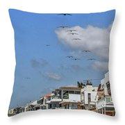 Luxury Beach Houses Malibu Throw Pillow
