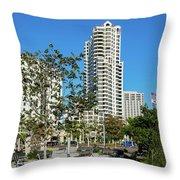 Luxury High Rise Apartments Throw Pillow