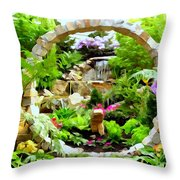 Luxury Landscape Throw Pillow
