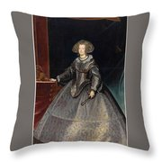 Luycks, Frans Amberes, 1604 - Viena, 1668 Maria Of Austria, Queen Of Hungary Ca. 1635 Throw Pillow