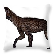 Lycaenops Dinosaur Roaring, White Throw Pillow