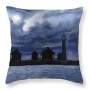 Lydia Ann Lighthouse Throw Pillow