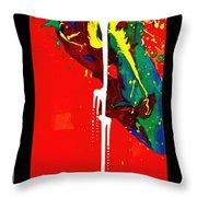 Lying In The Afterglow Throw Pillow