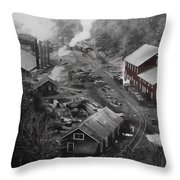 Lykens Valley Mining Throw Pillow