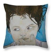Lyla Le Chocolat Colle Aux Dents Throw Pillow