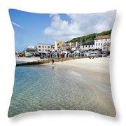Lyme Regis Beaches - June 2015 Throw Pillow