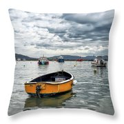 Lyme Regis Harbour - March Throw Pillow