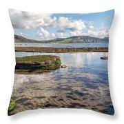 Lyme Regis Seascape 3 - October Throw Pillow