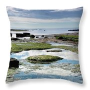 Lyme Regis Seascape 4 - October Throw Pillow