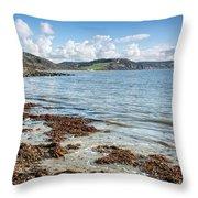 Lyme Regis Seascape 5 - October Throw Pillow
