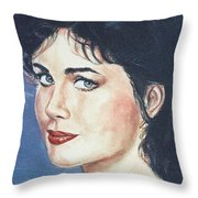 Lynda Carter Throw Pillow