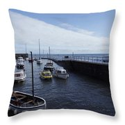 Lynmouth Harbour Throw Pillow