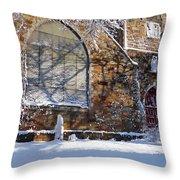 Lynn Central Congregational Church Lynn Ma Winter Throw Pillow