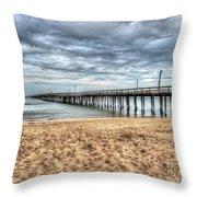 Lynnhaven Fishing Pier, Bay Side Throw Pillow