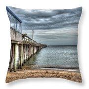 Lynnhaven Fishing Pier, Ocean Side Throw Pillow