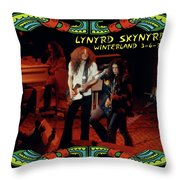 L S At Winterland 2 Throw Pillow