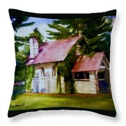Lyons Falls Church Throw Pillow