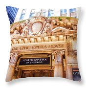 Lyric Opera Of Chicago Throw Pillow