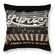 Lyric Theater Birmingham Throw Pillow