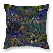 Lysergic Asters Throw Pillow