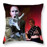 Lysol At Fifth Annual David Bowie Birthday Bash Throw Pillow